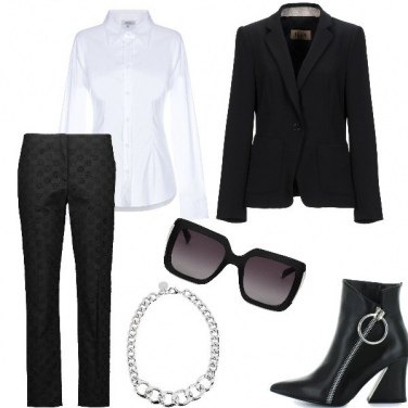 Outfit Omaggio a lagerfield