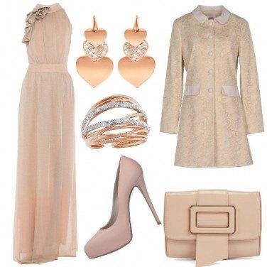 Outfit Matrimonio in beige