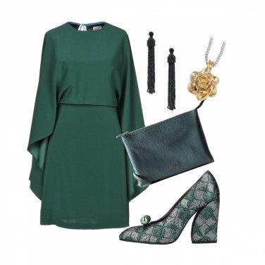 Outfit Cerimonia verde