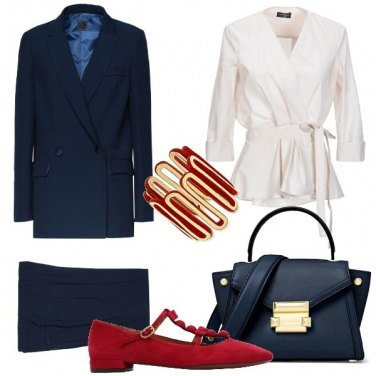 Outfit Tailleur blu