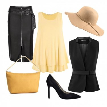 Outfit Cappello beige