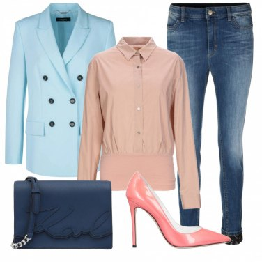 Outfit Blazer azzurro
