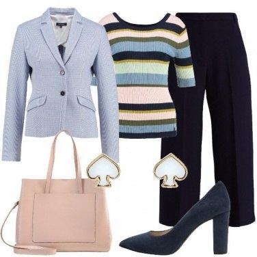 Outfit Sobrietà a righe