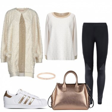 Outfit Sport and gold