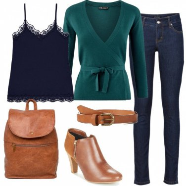 Outfit Lo scaldacuore verde
