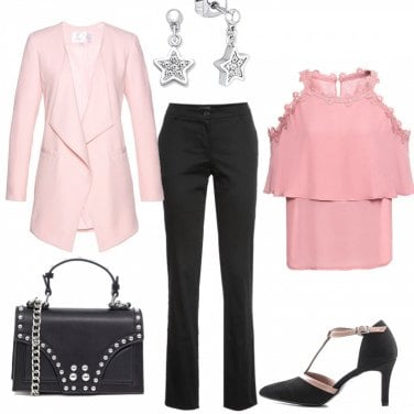 Outfit Pink & Black