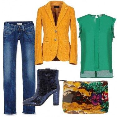 Outfit Il blazer giallo