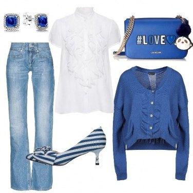 Outfit La decolletè rigata