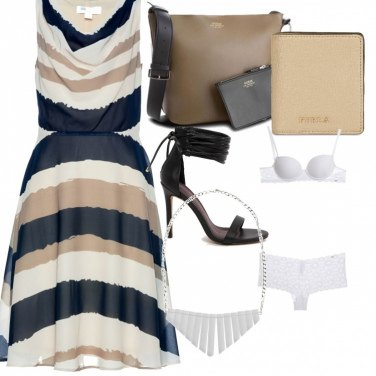 Outfit Vestito zebrato