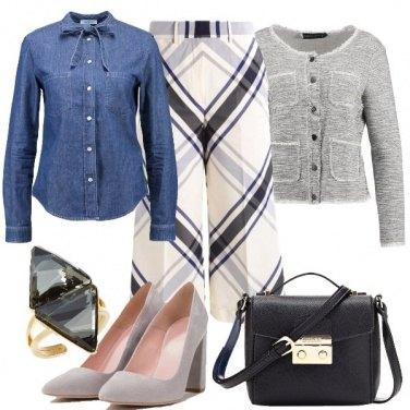 Outfit Tartan primaverile e denim