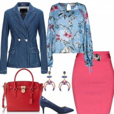 Outfit #mi vesto bene ++ in Denim e Rosa