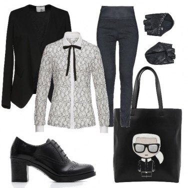 Outfit Karl Lagerfeld Tribute