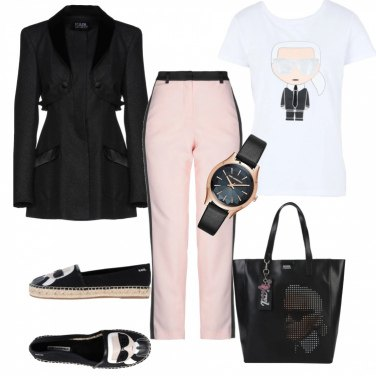 Outfit Tributo a Karl Lagerfeld