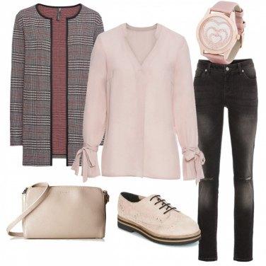 Outfit Il cardigan-giacchina scozzese