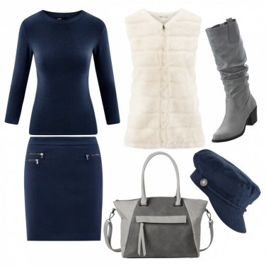 Outfit Cappello Blue