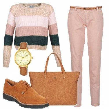 Outfit Maxi bag camel