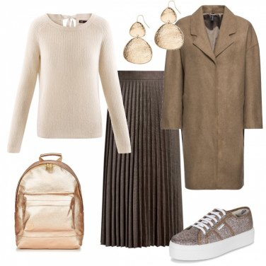 Outfit Glitter e pieghe - low cost