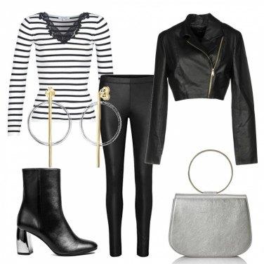 Outfit Bianco, nero e...