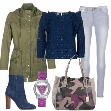 Outfit Maxi bag e sahariana