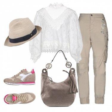 Outfit Cargo e merletti
