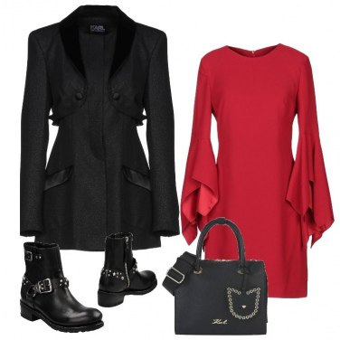 Outfit Rosso e volants