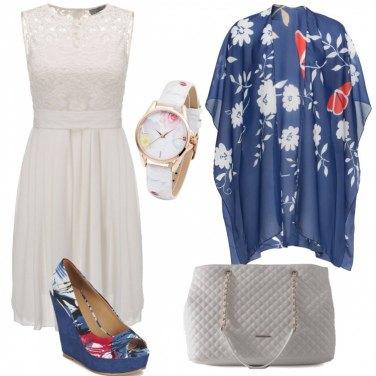 Outfit Un romantico abito bianco