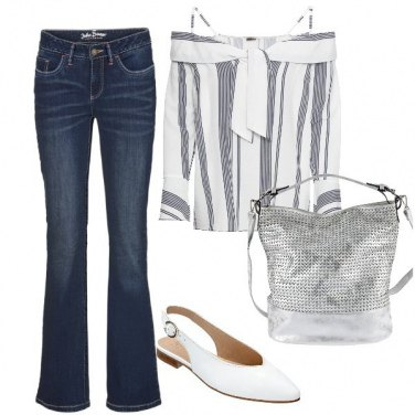 Outfit Chic anche in jeans