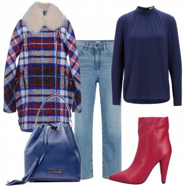 Outfit Cappotto in tartan
