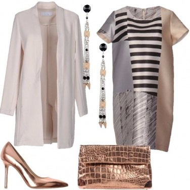 Outfit Eleganza a righe
