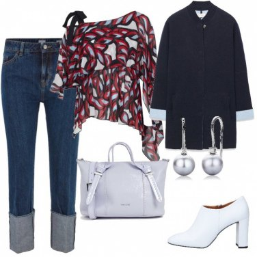 Outfit Jeans e cappotto