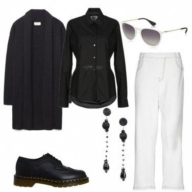 Outfit Bianco e nero minimal