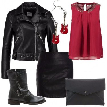 Outfit Rock in rosso
