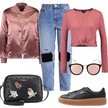 Outfit La stravagante rosa