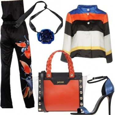 Outfit Fiori e righe per la sera