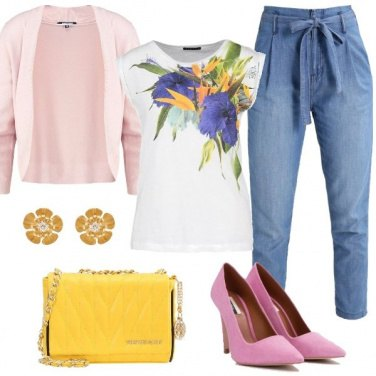 Outfit Jeans con fiocco