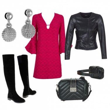 7eec1dd81c74 Vestito rosso  outfit donna Rock per tutti i giorni