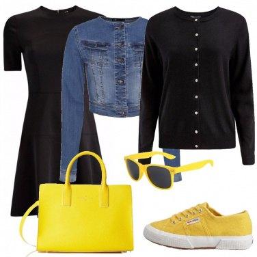 Outfit Una diva in giallo