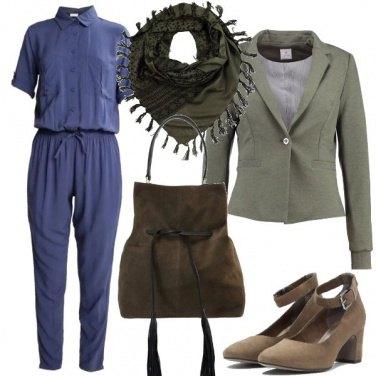 Outfit Indigo e khaki