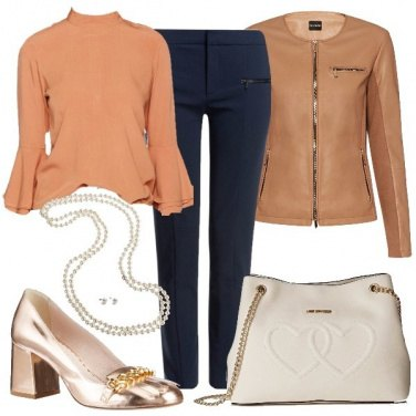 Outfit In rosa salmone