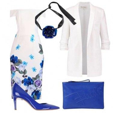 Outfit Fiori blu