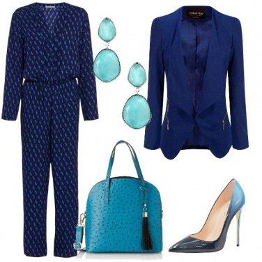 Outfit In tuta blu