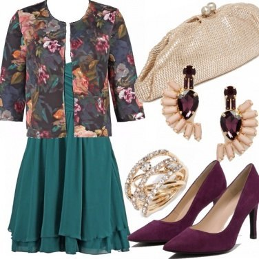 Outfit Emerald and plum