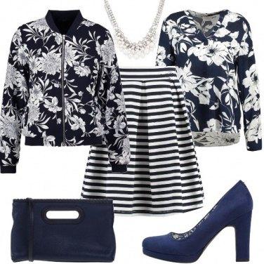 Outfit Un romantico mix di fantasie