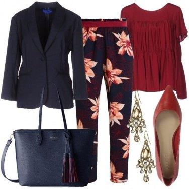 Outfit Fiori tropicali