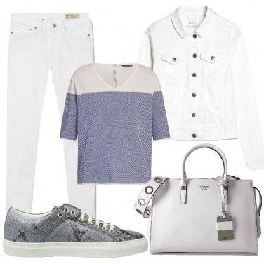 Outfit Pantalone bianco