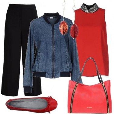 Outfit Con il bomber di jeans