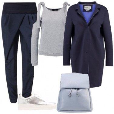 Outfit Comodità in blu