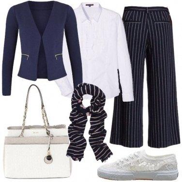 Outfit Pantaloni culotte in primavera