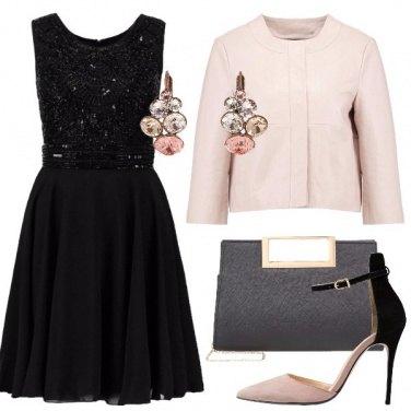Outfit Elegante con la giacca in pelle
