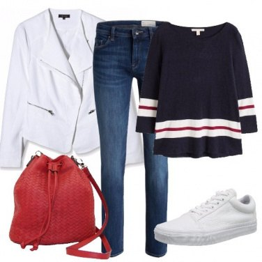 Outfit Chiodo bianco